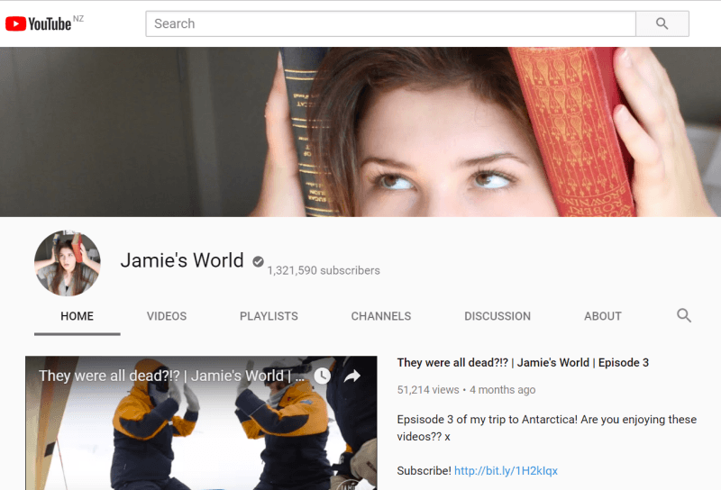 Jamie's World on YouTube