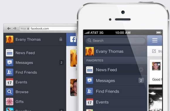 Facebook Looks The Same Across Desktop and Mobile