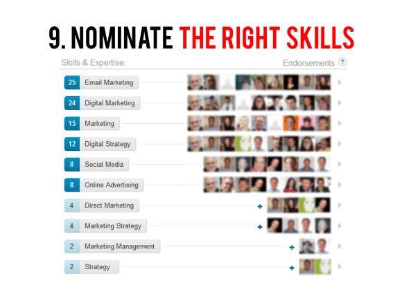 Nominate the right skills