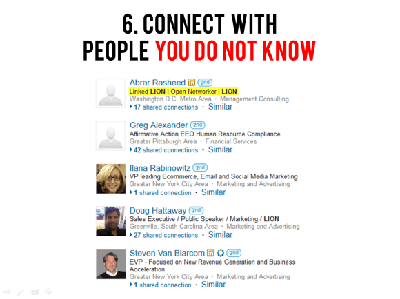 Connect with people you don't know