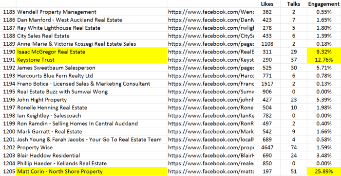 Facebook Real Estate pages